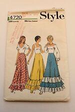 Vintage Style 4720 - 1970s Long Skirt, Hippy, Boho - Size 14 - Comp.