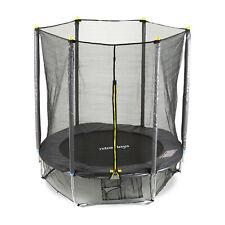 3 tlg. Trampolin Set Gartentrampolin Outdoor 183cm Sicherheitsnetz Rahmennetz