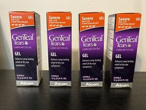 4x GenTeal Tears Severe  Dry Eye Relief Gel 0.34 Fl oz Exp 08/2021