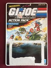 GI Joe VINTAGE 1987 Action Pack Helicopter  Card Back Only