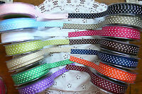 Grosgrain SPOT Ribbon 16mm 3&5Metre Length - 14 Assort Colour Choice MayArts LL4