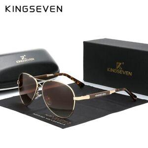 KINGSEVEN New Quality Titanium Alloy Men's Polarized Sun glasses Pilot Mirror