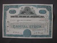 NORTH AMERICAN AVIATION INC.  STOCK CERTIFICATE Aktie acción share action azione