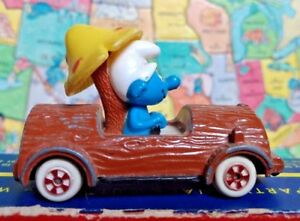 Smurf-About Toy Car Diecast Series The Ertl Co. #3 Vintage Peyo 1982