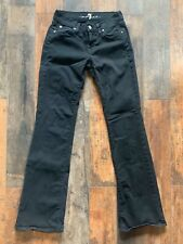 Women's 7 For All Mankind Skinny  Bootcut Jeans, Black, 25