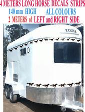 HORSE FLOAT 4 METER Long 140mm HIGH DECAL STRIPS CARAVAN Trailer Sticker Truck