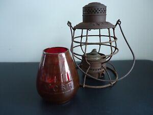 Antique M.C.R.R. (MICHIGAN CENTRAL RAILROAD) Lantern with M.C.R.R. Cast Globe