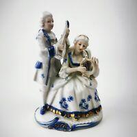 ~ Vintage ~ KIC Aishin ~ Figurine ~ Porcelain ~ Colonial Couple Playing Music ~