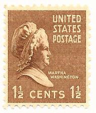Martha Washington 1 1/2 cent Scott 805 Mint Original Glue