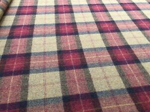 2m Remnant Of Balmoral 100% Wool Plaid Upholstery, Cushion And Craft Fabric