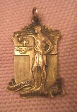 antique gilt bronze Rensselaer highest math science award 1929 figural medal