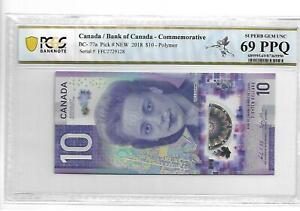 CANADA 2018 10 DOLLARS PCGS 69 SUPERB GEM UNC PPQ NOT PMG
