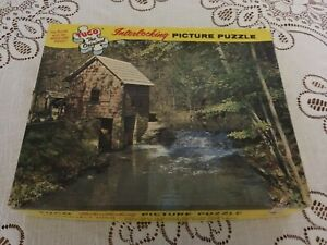"Vintage Tuco Puzzle ""Superb"" Series No. 5980-8 - ""Rustic Mill"" - 1960's/1970's?"