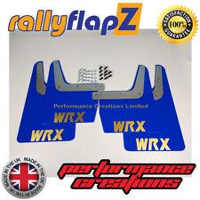 SUBARU IMPREZA Classic (93-01) GC8 Mudflaps 4mm PVC Blue WRX style Logo Gold