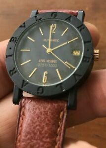 Authentic BVLGARI Carbon BB33VLD Automatic Unisex Watch LA Limited 757/1000