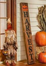 Happy Harvest Standing Wooden Porch Sign Fall Seasonal Home Decor