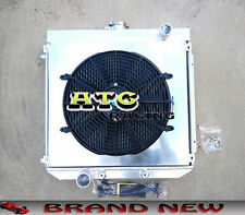 3 Core Aluminum Radiator + Shroud + Fan for Ford XW XY 302 GS GT 351 Cleveland