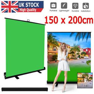 Pull Up Portable GREEN SCREEN Video Photography Key Panel Backgroun 1.5m*2m UK
