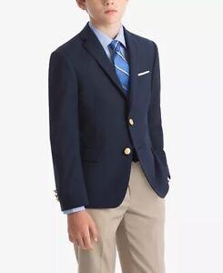Big Boys Lauren Ralph Lauren Sport Coat 12R Solid Navy Blazer Jacket WORN ONCE