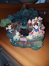 Extremely Rare! Walt Disney Snow White with Dwarfs Fountain Figurine Statue