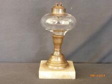 Antique Whale Oil Lamp Original Whale Oil Burner Marble Brass Glass