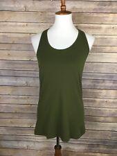 Lululemon Racerback II Tank Size 10 Olive Green Activewear Top