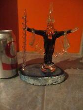 Glass WIZARD Figurine on ROCK