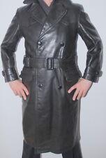 Men's RARE! Genuine 50's German Officer Leather Jacket Coat 48 - 50 / UK 40 / M