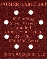 PORTER-CABLE 380 - 40/80/100/150/240/400/800/1500 - 10 Sheet Variety Bundle II