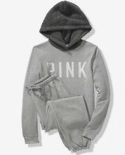 Victoria Secret PINK Sherpa Hoodie Pullover Sweatpants Pants Gift Set L Bling