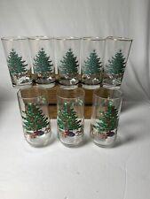 Set of 5 CUTHBERTSON ORIGINAL CHRISTMAS TREE HIGHBALL GLASSES + 3 Drinking Glass