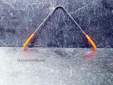 Ayurveda Zungenreiniger aus Edelstahl, Zungenschaber (orange)