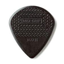 6  Dunlop Max-Grip Jazz III Black STIFFO Guitar Picks - (pack of 6 picks)