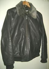 Homme SCHOTT LC-930D Leather Bomber Pilot Style flying jacket
