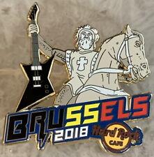Hard Rock Cafe BRUSSELS 2018 Rockin' Knight on Horse w/ Guitar PIN - HRC #100682