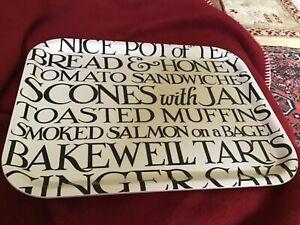 NEW!! Emma Bridgewater Birch Tray, Black Toast, 37x29cms. Eco-friendly.
