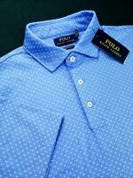 Polo Ralph Lauren Custom Slim Polka Dot Short Sleeve Blue Polo Shirt Soft Cotton