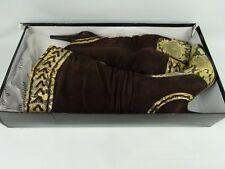 knee high heeled Lilita fashion boots uk7 Brown Suede / Imitation Snake skin