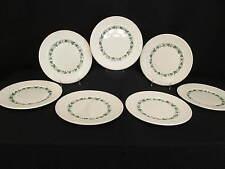 "Set of 7 Vtg Wedgwood STRATFORD EDME Grapevine Ivy 10.5"" Dinner Plates, England"