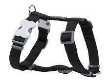 Red Dingo Plain Black Dog Harness 12mm X Neck 25-39cm Body 30-44cm