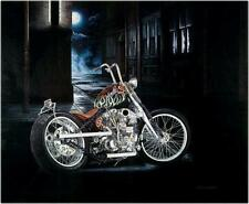 Indian Larry Chain Bobber Ltd Edition Signed Motorcycle Art Print by Guillemette
