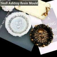Skull Silicone Ashtray Mold Resin Candle Holder Mould Epoxy NEW Casting DIY T1H5