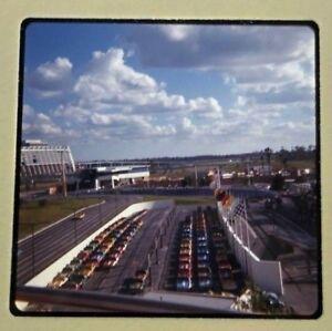 VTG Ektachrome 35mm Color Slide Speedway Race Cars Walt Disney World Florida