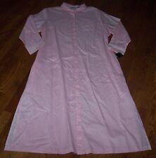 NWT Ralph Lauren $69 Pink/White Vertical Stripes COTTON LAWN MAXI Button Gown S