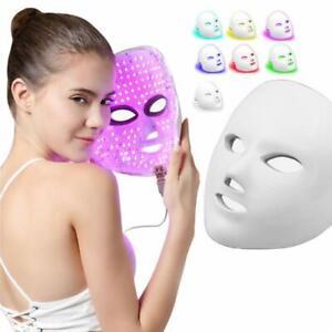 LED Light Photon Face Mask Rejuvenation Skin Facial Wrinkle Therapy 7 Colour