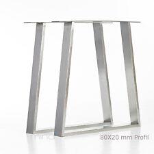 mina concept Tischgestell Edelstahl Tischbein Tischkufe TRED8020  (1 Stück)
