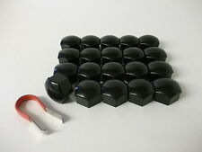 Ford Fiesta Focus & C-Max Mondeo Wheel Nut Covers (19mm Black) (PE1021)