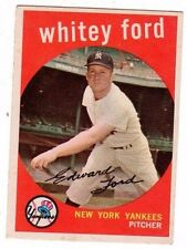 1959 Topps #430 Whitey Ford - New York Yankees, Excellent - Mint Condition'
