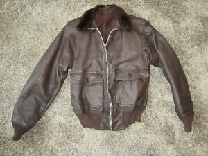 SURVIVOR!!! USN G1 Flight Jacket Cagleco sz 36 issued 1956-7 check it out