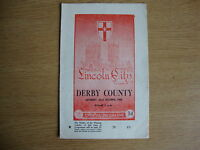 1960/1 Lincoln City v Derby County - League Division 2 - Good Condition